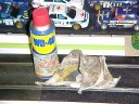 WD40 and dirty rag